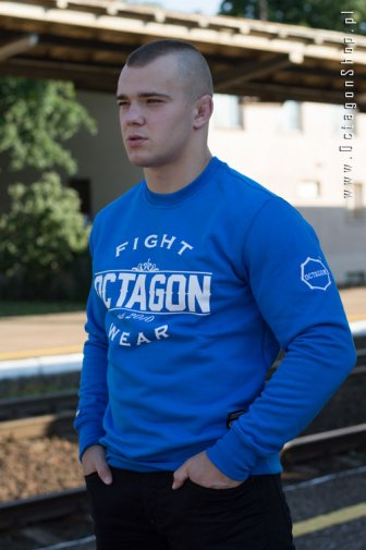 Bluza Octagon Basic Fight Wear niebieska bez kaptura