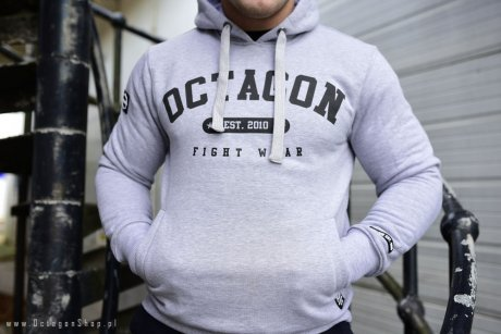 Bluza Octagon Basic Fight Wear est 2010 szara z kapturem