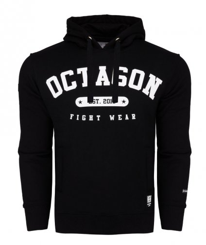 Bluza Octagon Basic Fight Wear est 2010 czarna z kapturem
