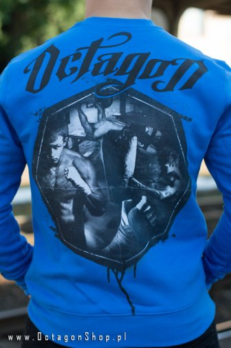 Bluza Octagon Fight Life niebieska bez kaptura