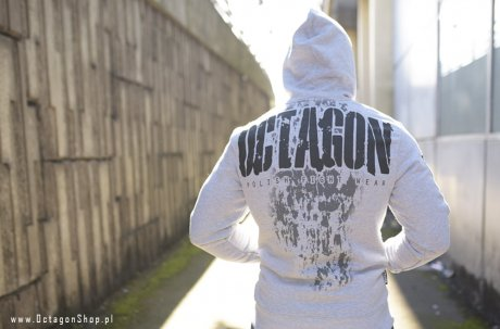 Bluza Octagon Polish Fight Wear szara z kapturem