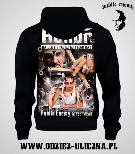 Bluza Public Enemy Honor z kapturem
