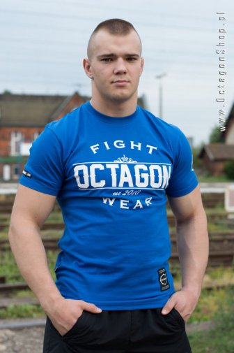 T-shirt Octagon Basic Fight Wear niebieski OKAZJA