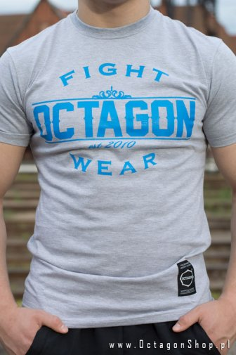 T-shirt Octagon Basic Fight Wear szary OKAZJA