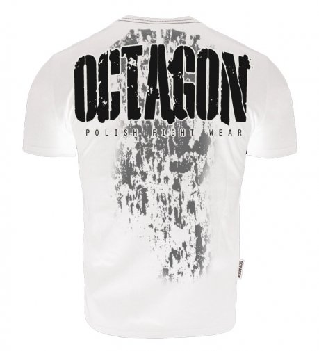 T-shirt Octagon Polish Fight Wear biały