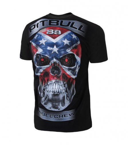 T-shirt Pit Bull Skull Rebel