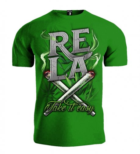 T-shirt Public Enemy RELAX Take it easy zielony