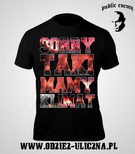 T-shirt Public Enemy Sorry taki mamy klimat