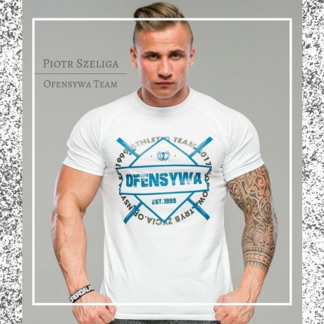 T-shirt OFENSYWA Athletic Team biały