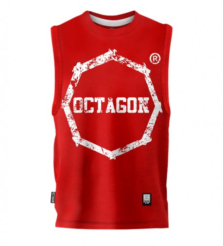 Bezrękawnik Octagon Logo Smash red