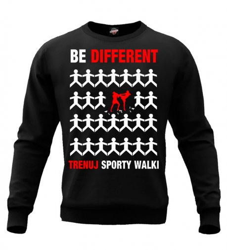 Bluza Be Different sporty walki (czarna bez kaptura)