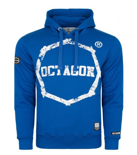 Bluza Octagon Logo Smash blue z kapturem
