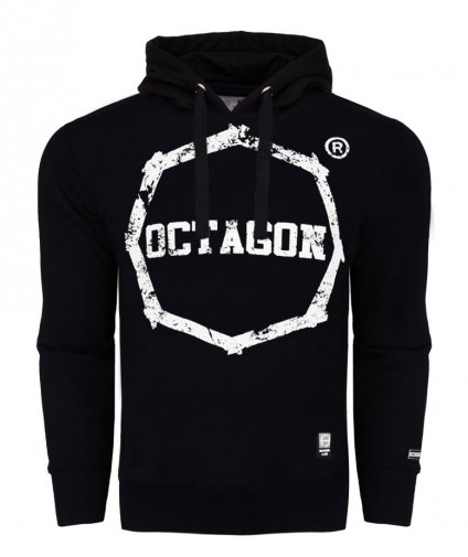 Bluza Octagon Logo Smash black z kapturem