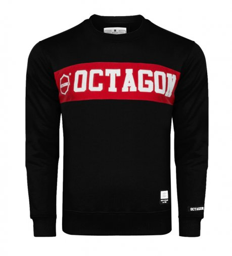 Bluza Octagon Middle black bez kaptura