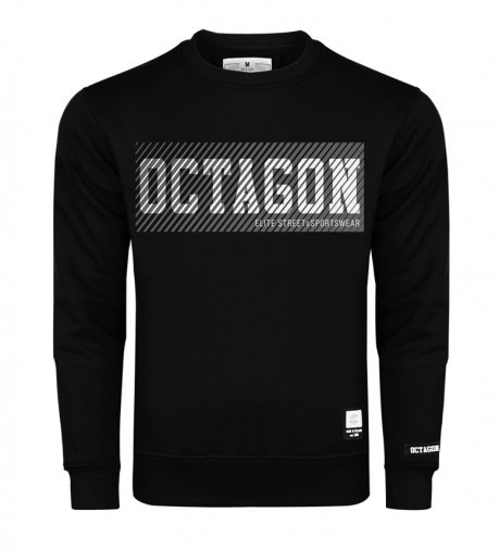 Bluza Octagon New Lines bez kaptura black
