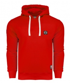 Bluza Octagon Small Logo red z kapturem