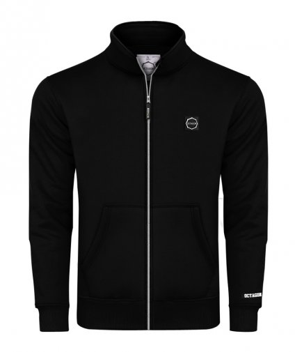 Bluza Octagon Small Logo ZIP bez kaptura black