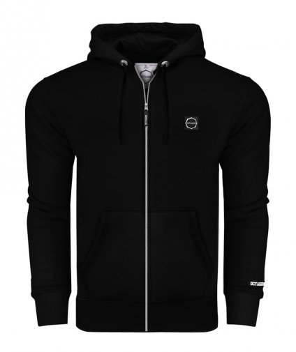 Bluza Octagon Small Logo ZIP z kapturem black