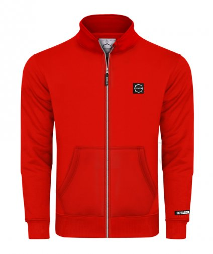 Bluza Octagon Small Logo ZIP bez kaptura red