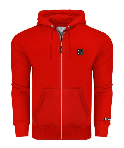 Bluza Octagon Small Logo ZIP z kapturem red
