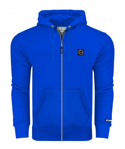 Bluza Octagon Small Logo ZIP z kapturem blue