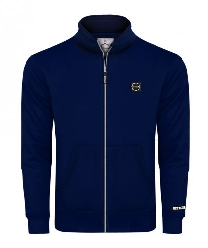 Bluza Octagon Small Logo ZIP bez kaptura dark navy