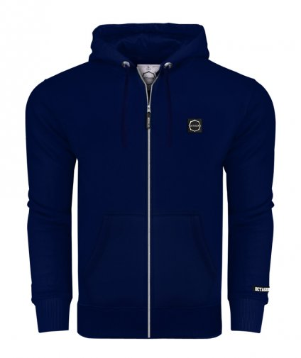 Bluza Octagon Small Logo ZIP z kapturem dark navy