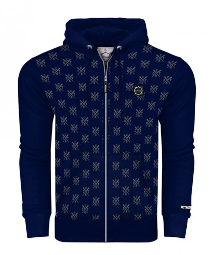Bluza Octagon ZIP Types z kapturem dark navy