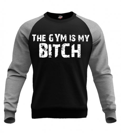 Bluza The Gym is My Bitch (czarno-szara)