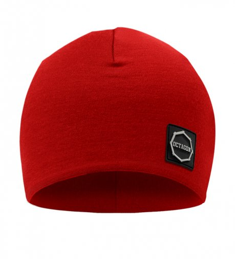 Czapka zimowa Octagon Small Logo red