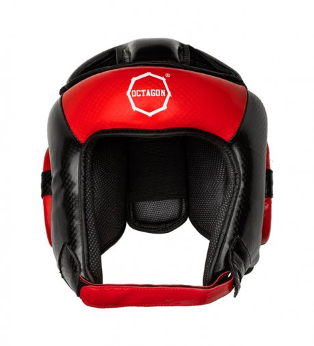 Kask bokserski Octagon Carbon red