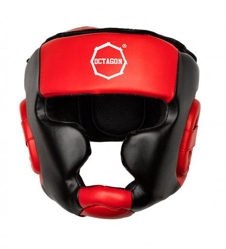 Kask bokserski Octagon Plain red