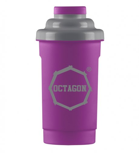 Shaker Octagon Logo purple/grey 0,5l