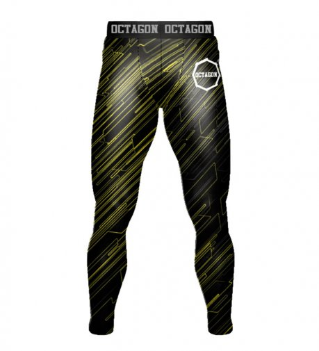 Leginsy męskie Octagon Blast Black/Yellow