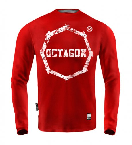 Longsleeve Męski Octagon Logo Smash red