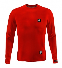 Longsleeve Męski Octagon Small Logo red
