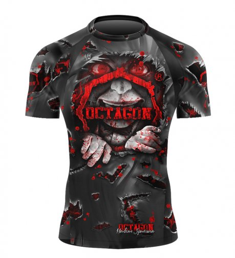 Rashguard Octagon Be Quiet Or Be Dead