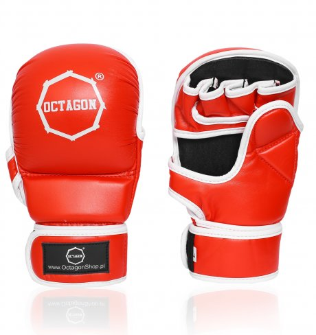 Rękawice MMA Sparingowe Octagon red