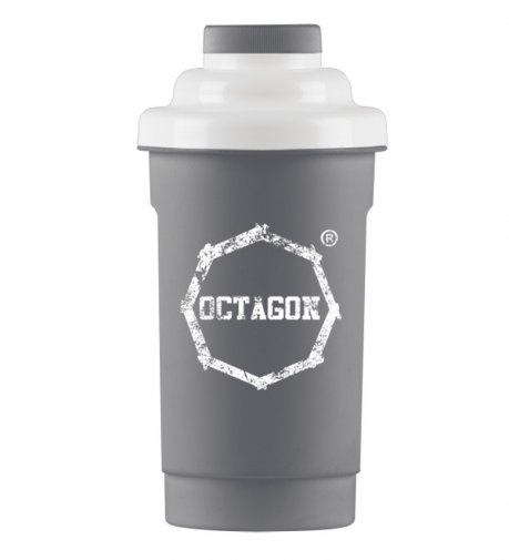 Shaker Octagon Logo grey/white 0,5l