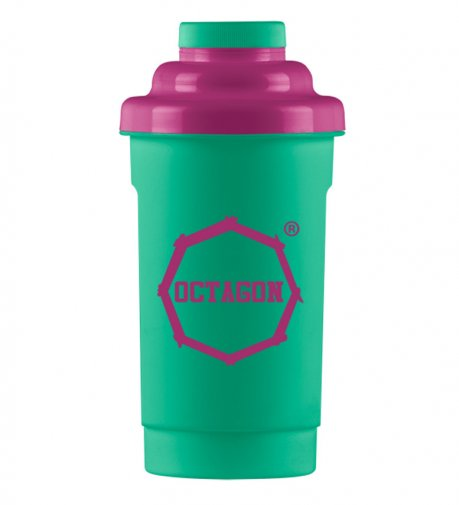 Shaker Octagon Logo mint/purple 0,5l