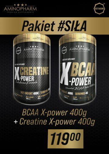 #SIŁA - BCAA X-power 400g + Creatine X-power 400g