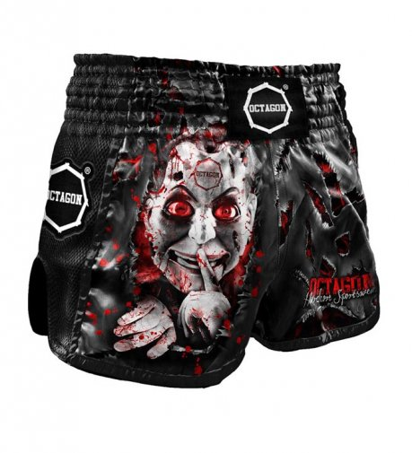 Spodenki Muay Thai Octagon Be Quiet Or Be Dead