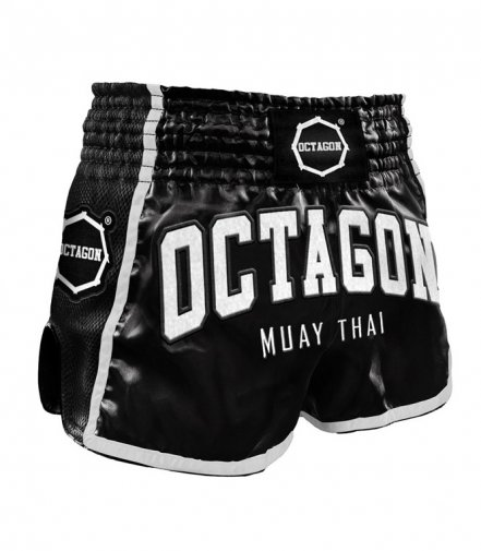 Spodenki Muay Thai Octagon Black/White