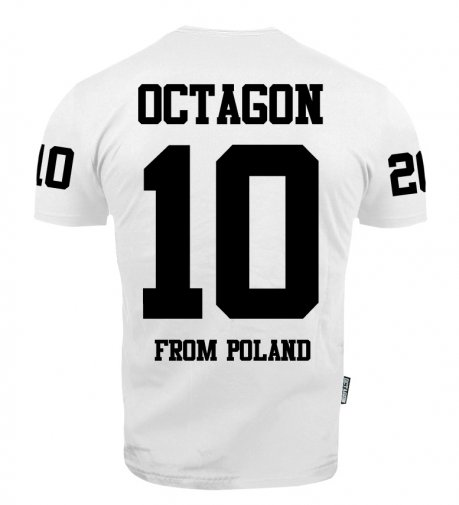 "T-shirt Octagon ""10"" white"