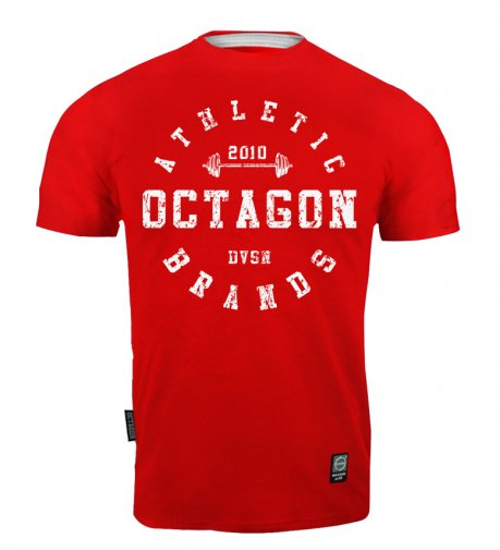 T-shirt Octagon Athletic Brands red [KOLEKCJA 2021]