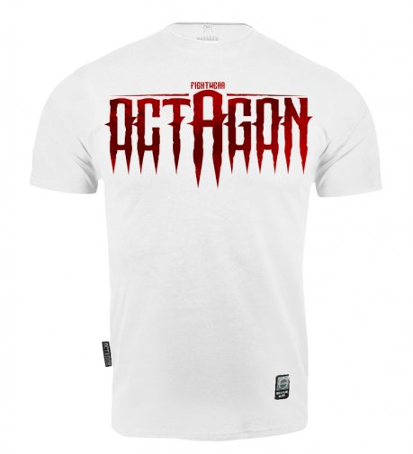 T-shirt Octagon Blood Font white [KOLEKCJA 2021]