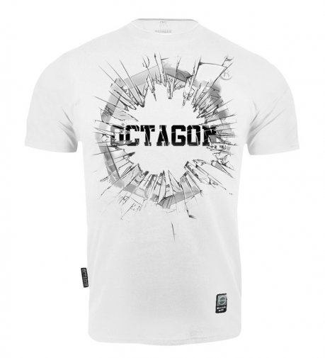 T-shirt Octagon Crushed Logo white