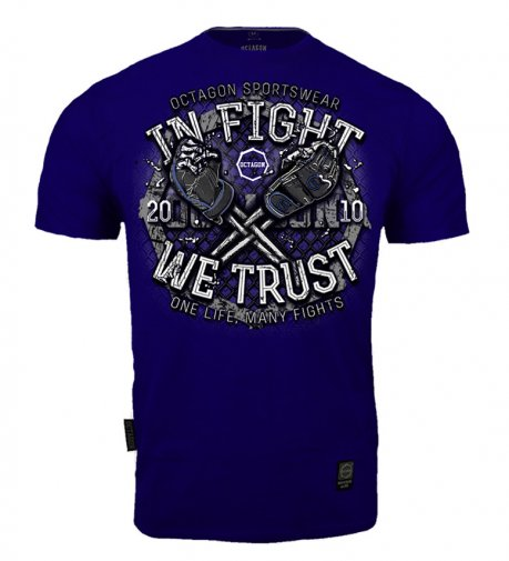 T-shirt Octagon In Fight We Trust dark navy