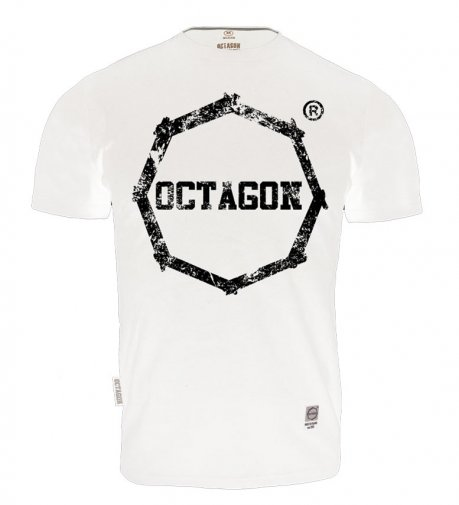 T-shirt Octagon Logo Smash white