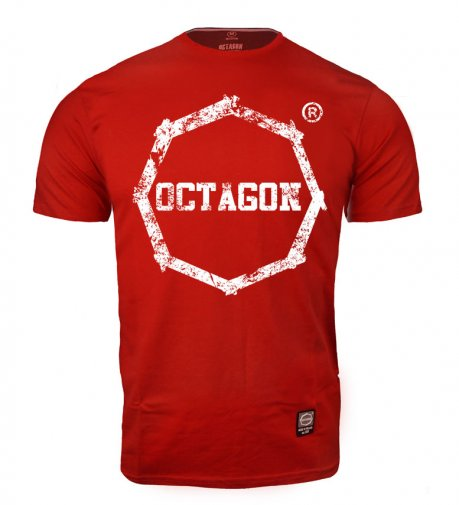 T-shirt Octagon Logo Smash red